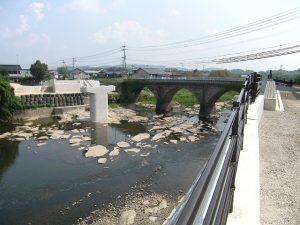 完成写真(橋脚1基、橋台2基、築堤・護岸)