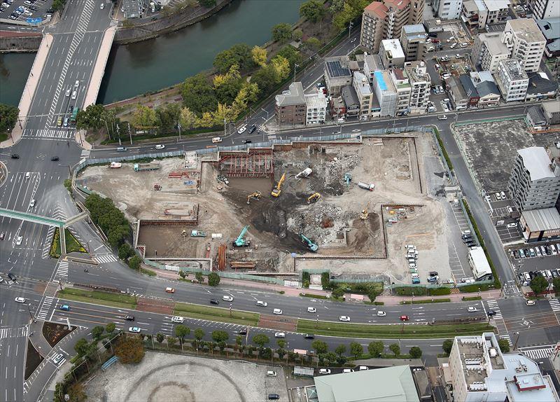 旧鹿児島市立病院地下部解体工事
