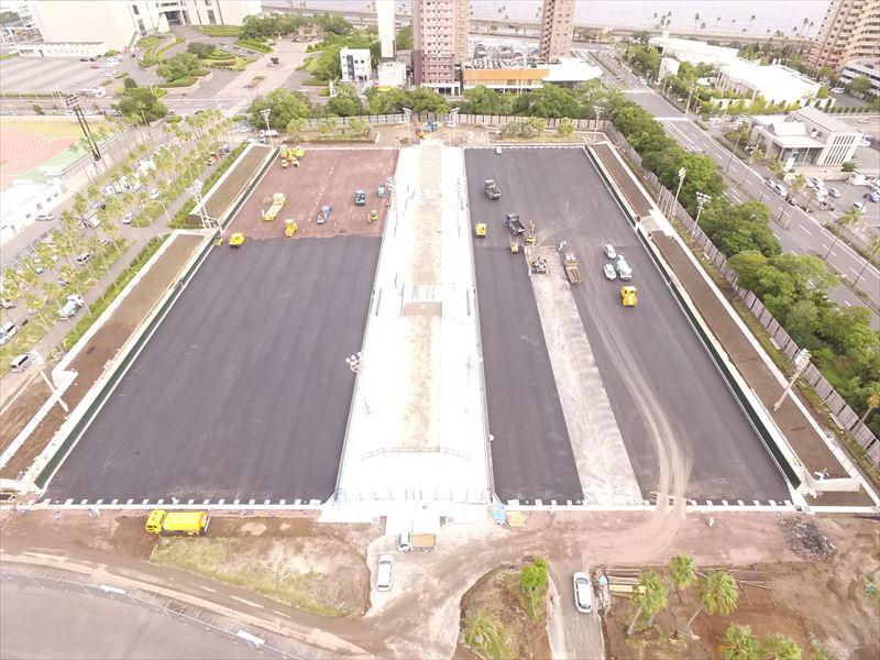 かごしま国体会場施設整備工事(庭球場工区)
