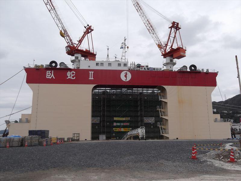 亀徳港改修工事(ケーソン製作)