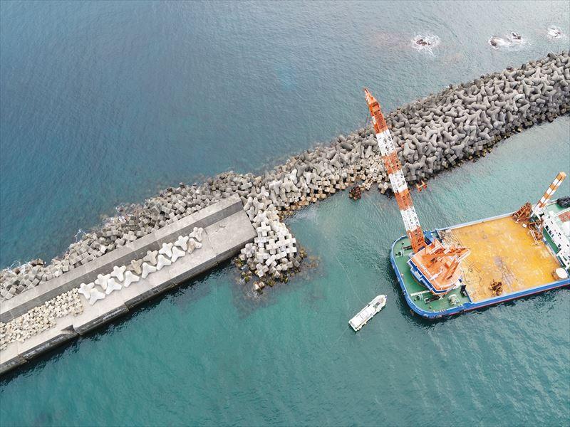 安房港港整備交付金工事(1工区)