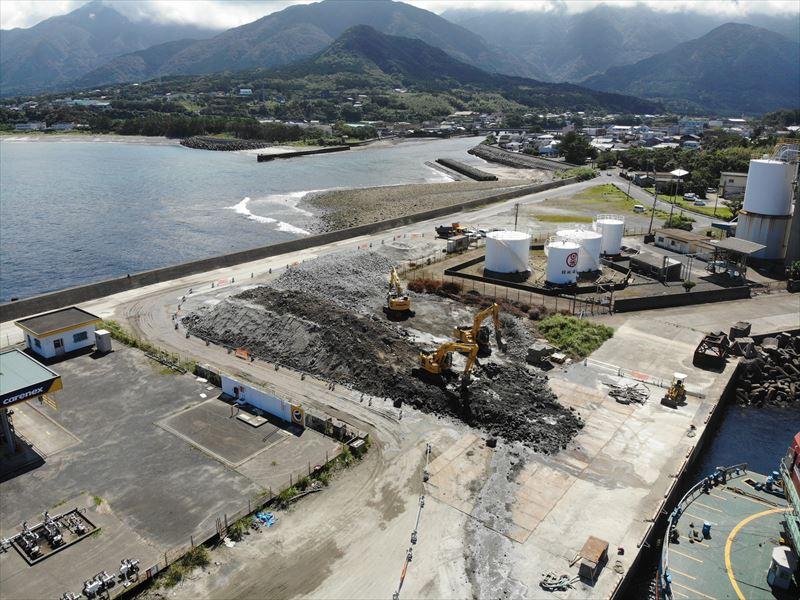 屋久島永田港災害復旧工事について