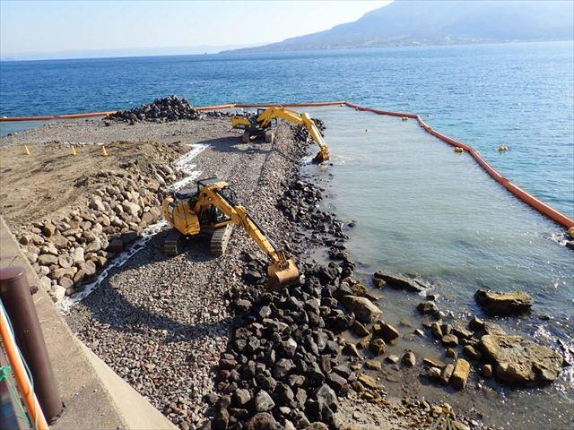 祇園之洲地区工事用道路設置工事