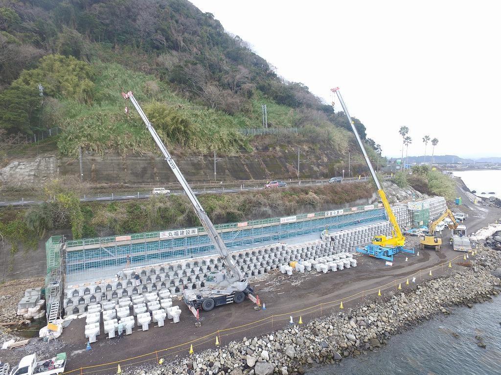 鹿児島10号白浜地区改良3工区工事