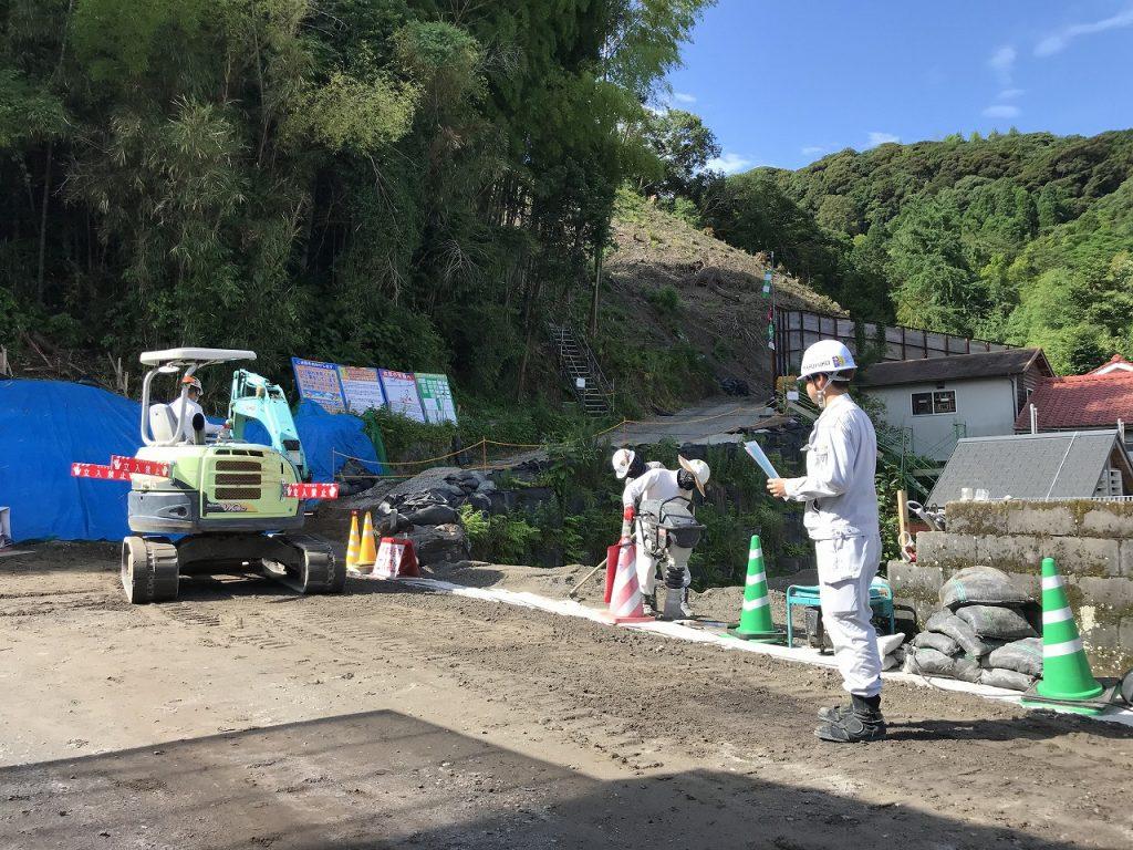 急傾斜地崩壊対策工事(中福良4地区R2-1工区)